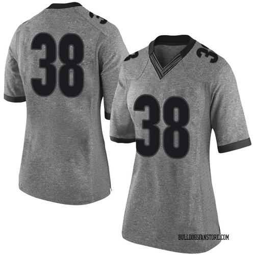 Women's Nike Joseph Hull Georgia Bulldogs Limited Gray Football College Jersey