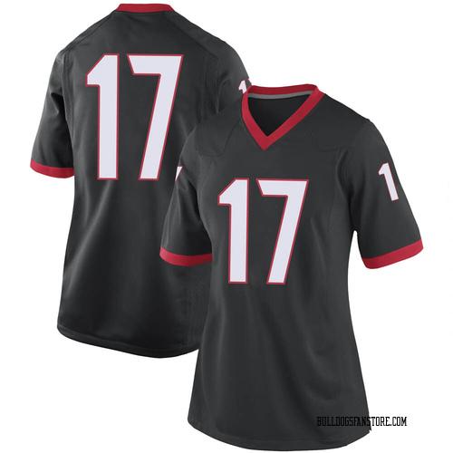 Women's Nike Justin Robinson Georgia Bulldogs Game Black Football College Jersey