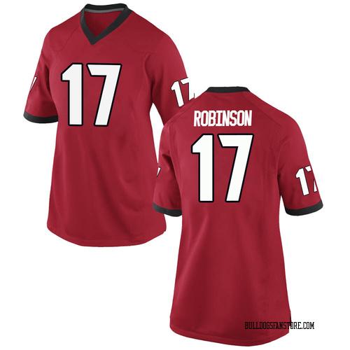 Women's Nike Justin Robinson Georgia Bulldogs Game Red Football College Jersey