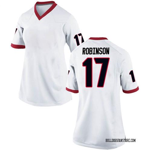 Women's Nike Justin Robinson Georgia Bulldogs Replica White Football College Jersey