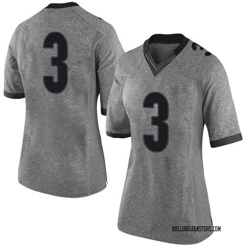 Women's Nike Juwan Parker Georgia Bulldogs Limited Gray Football College Jersey