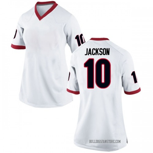 Women's Nike Kearis Jackson Georgia Bulldogs Game White Football College Jersey