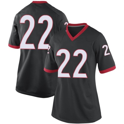 Women's Nike Kendall Milton Georgia Bulldogs Replica Black Football College Jersey