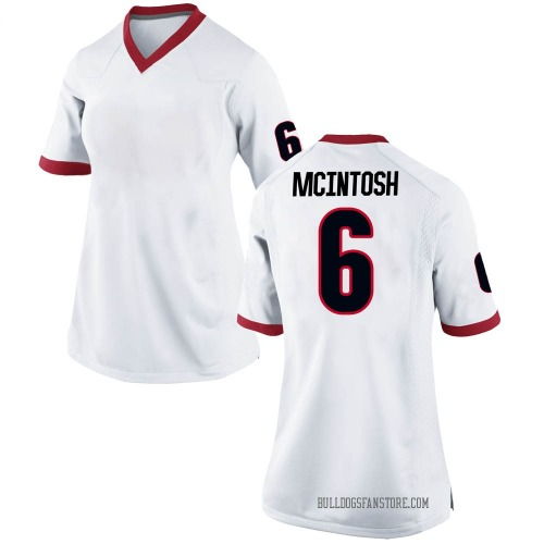 Women's Nike Kenny McIntosh Georgia Bulldogs Replica White Football College Jersey