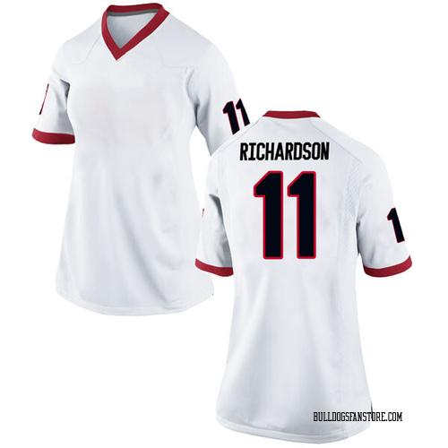 Women's Nike Keyon Richardson Georgia Bulldogs Replica White Football College Jersey