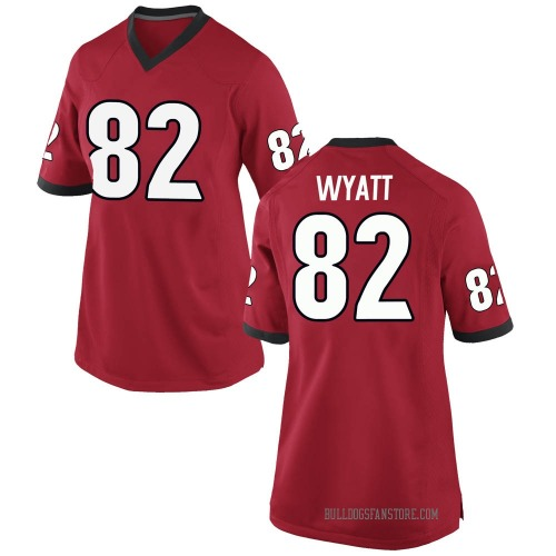 Women's Nike Kolby Wyatt Georgia Bulldogs Replica Red Football College Jersey