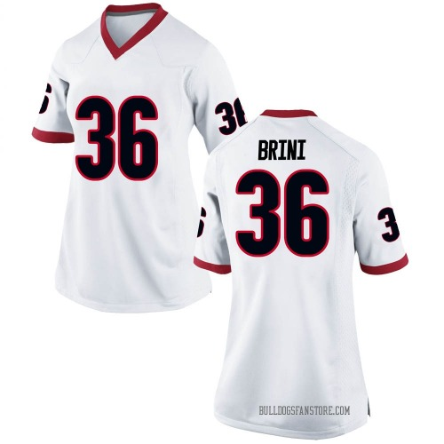 Women's Nike Latavious Brini Georgia Bulldogs Game White Football College Jersey