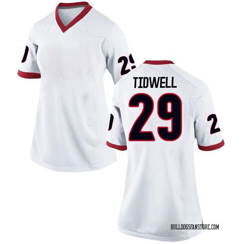 Women's Nike Lofton Tidwell Georgia Bulldogs Game White Football College Jersey