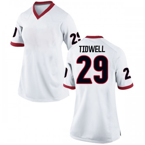 Women's Nike Lofton Tidwell Georgia Bulldogs Replica White Football College Jersey