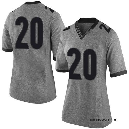 Women's Nike Major Burns Georgia Bulldogs Limited Gray Football College Jersey