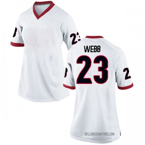 Women's Nike Mark Webb Georgia Bulldogs Game White Football College Jersey
