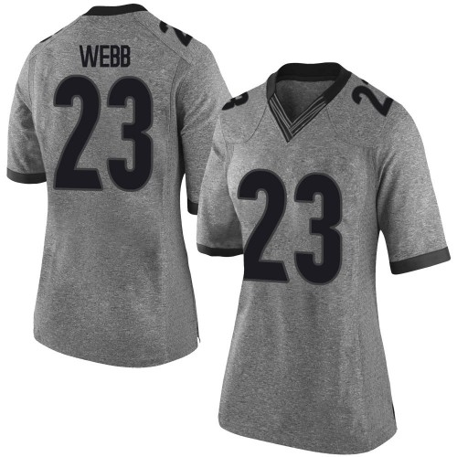 Women's Nike Mark Webb Georgia Bulldogs Limited Gray Football College Jersey