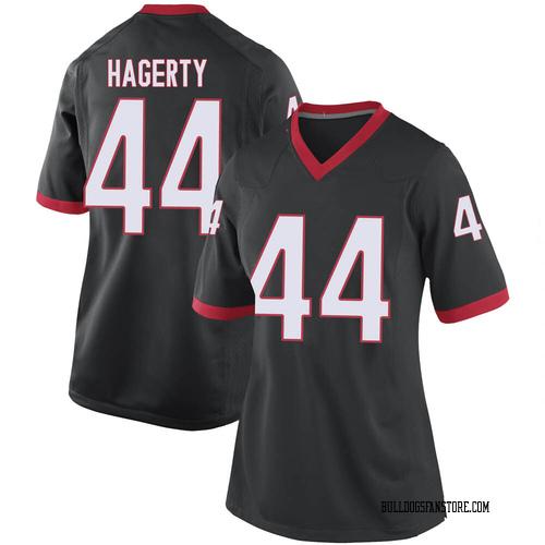 Women's Nike Michael Hagerty Georgia Bulldogs Replica Black Football College Jersey
