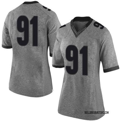 Women's Nike Mike Dangola Georgia Bulldogs Limited Gray Football College Jersey