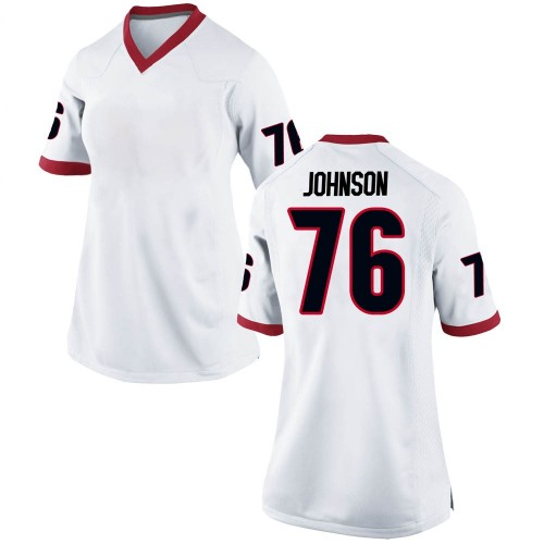 Women's Nike Miles Johnson Georgia Bulldogs Game White Football College Jersey