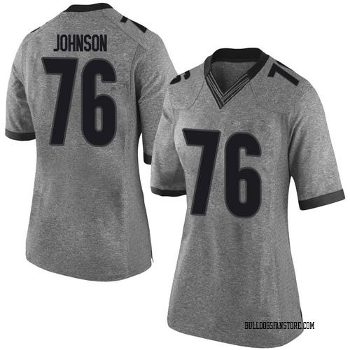 Women's Nike Miles Johnson Georgia Bulldogs Limited Gray Football College Jersey