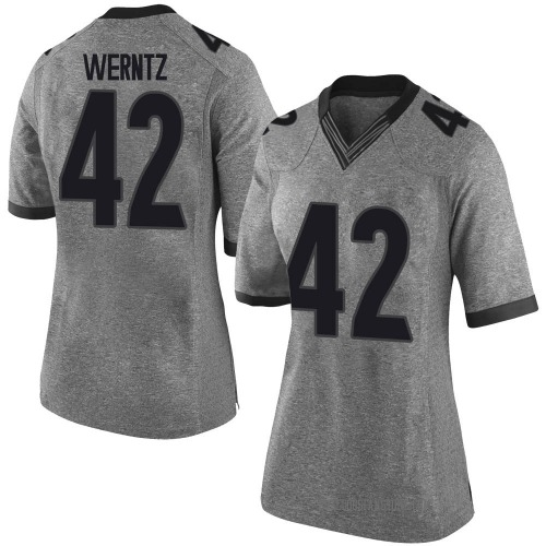 Women's Nike Mitchell Werntz Georgia Bulldogs Limited Gray Football College Jersey