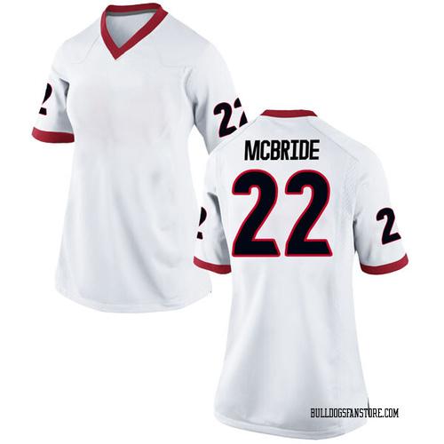 Women's Nike Nate McBride Georgia Bulldogs Game White Football College Jersey