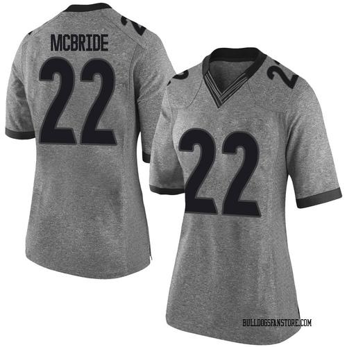 Women's Nike Nate McBride Georgia Bulldogs Limited Gray Football College Jersey
