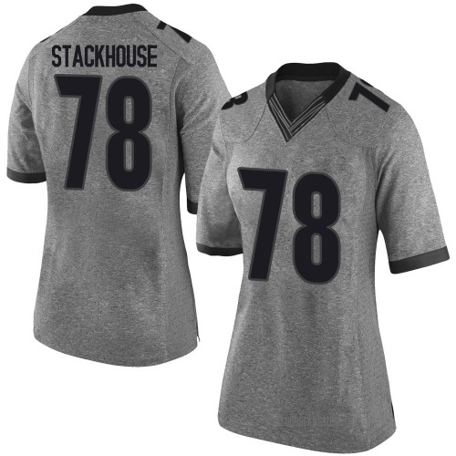 Women's Nike Nazir Stackhouse Georgia Bulldogs Limited Gray Football College Jersey