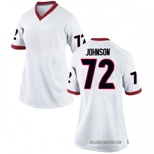 Women's Nike Netori Johnson Georgia Bulldogs Replica White Football College Jersey