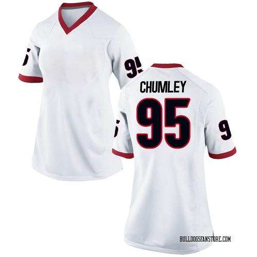 Women's Nike Noah Chumley Georgia Bulldogs Replica White Football College Jersey