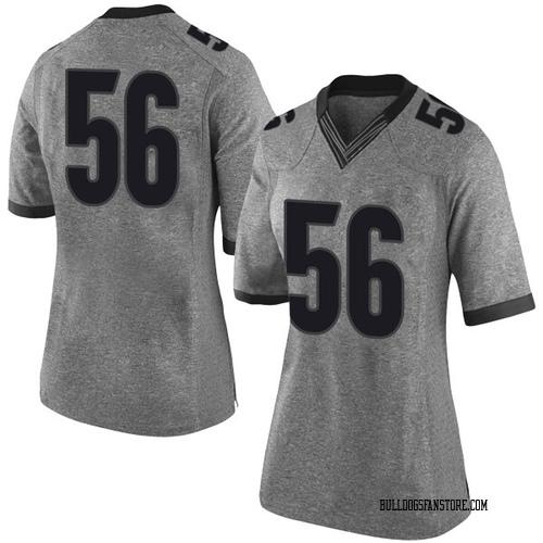 Women's Nike Oren Morgan Georgia Bulldogs Limited Gray Football College Jersey