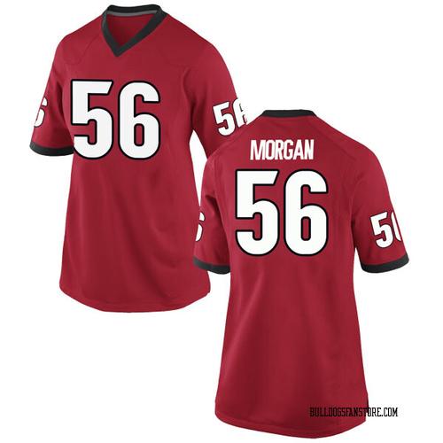 Women's Nike Oren Morgan Georgia Bulldogs Replica Red Football College Jersey