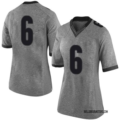 Women's Nike Otis Reese Georgia Bulldogs Limited Gray Football College Jersey
