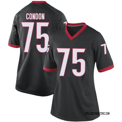 Women's Nike Owen Condon Georgia Bulldogs Replica Black Football College Jersey