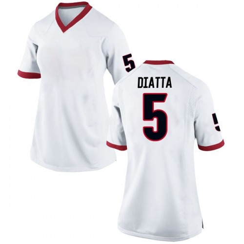 Women's Nike Pape Diatta Georgia Bulldogs Game White Football College Jersey