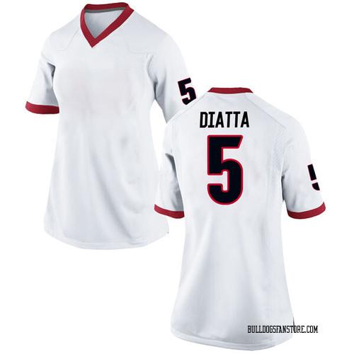 Women's Nike Pape Diatta Georgia Bulldogs Replica White Football College Jersey