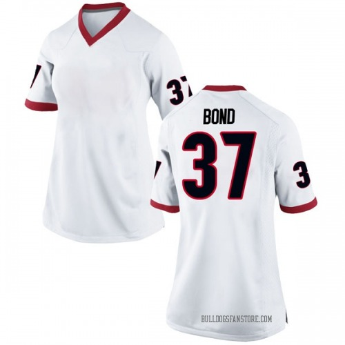 Women's Nike Patrick Bond Georgia Bulldogs Replica White Football College Jersey