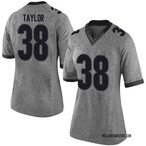 Women's Nike Patrick Taylor Georgia Bulldogs Limited Gray Football College Jersey
