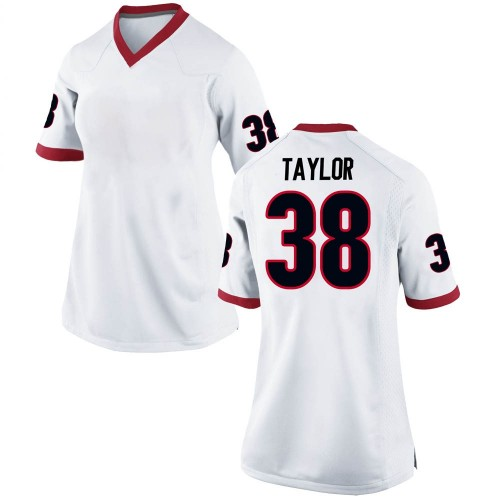 Women's Nike Patrick Taylor Georgia Bulldogs Replica White Football College Jersey