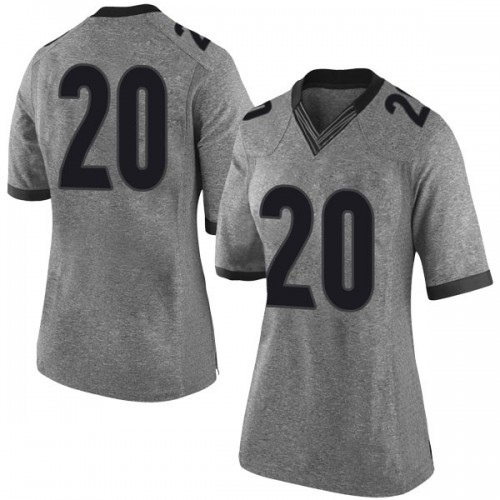 Women's Nike Rayshaun Hammonds Georgia Bulldogs Limited Gray Football College Jersey
