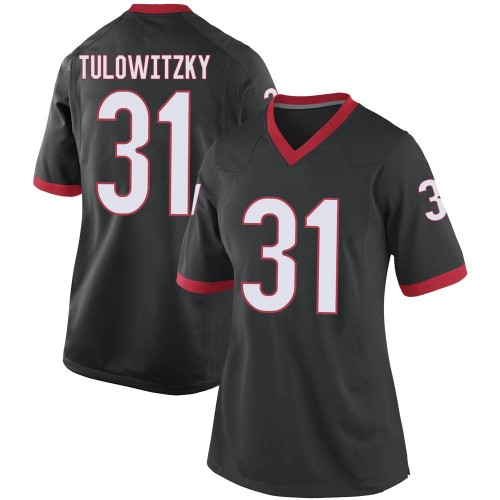 Women's Nike Reid Tulowitzky Georgia Bulldogs Game Black Football College Jersey