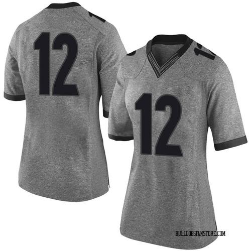 Women's Nike Rian Davis Georgia Bulldogs Limited Gray Football College Jersey