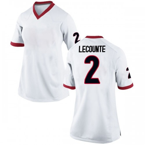 Women's Nike Richard LeCounte Georgia Bulldogs Replica White Football College Jersey