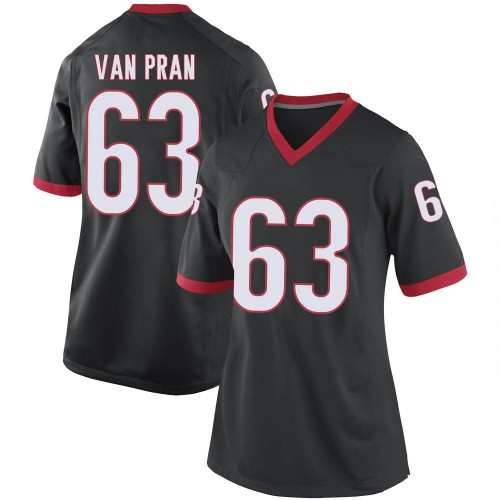 Women's Nike Sedrick Van Pran Georgia Bulldogs Replica Black Football College Jersey