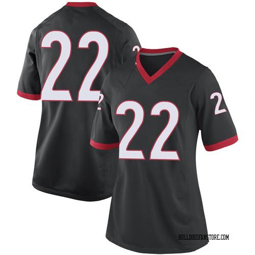 Women's Nike Stetson Bennett Georgia Bulldogs Replica Black Football College Jersey