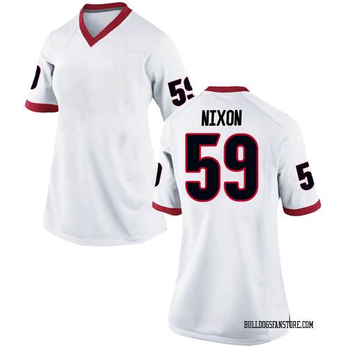 Women's Nike Steven Nixon Georgia Bulldogs Replica White Football College Jersey