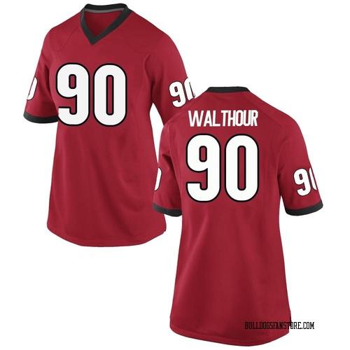 Women's Nike Tramel Walthour Georgia Bulldogs Game Red Football College Jersey