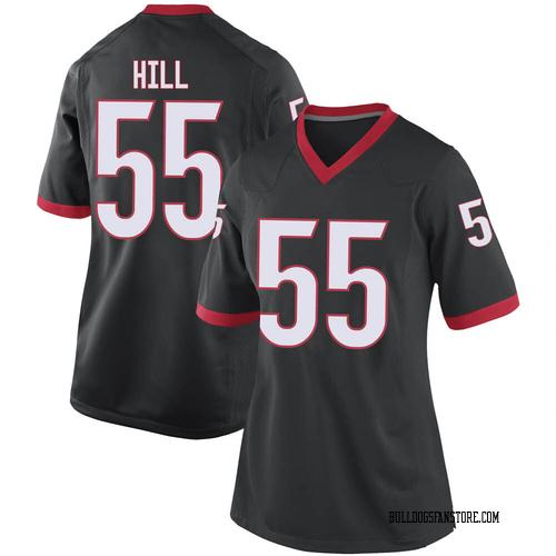 Women's Nike Trey Hill Georgia Bulldogs Replica Black Football College Jersey