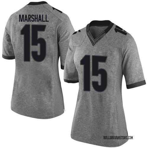 Women's Nike Trezmen Marshall Georgia Bulldogs Limited Gray Football College Jersey