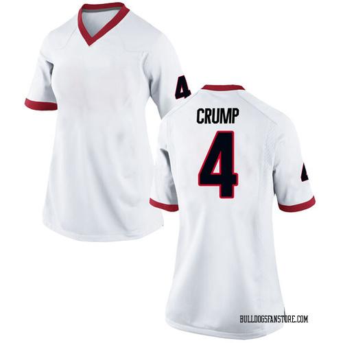 Women's Nike Tyree Crump Georgia Bulldogs Game White Football College Jersey