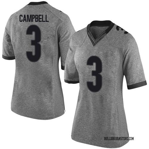 Women's Nike Tyson Campbell Georgia Bulldogs Limited Gray Football College Jersey