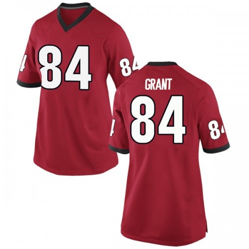 Women's Nike Walter Grant Georgia Bulldogs Game Red Football College Jersey