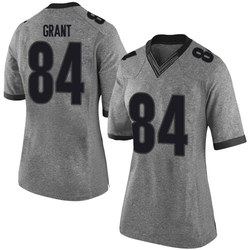 Women's Nike Walter Grant Georgia Bulldogs Limited Gray Football College Jersey