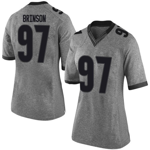 Women's Nike Warren Brinson Georgia Bulldogs Limited Gray Football College Jersey